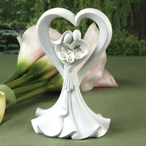 Love's Embrace Calla Lily Cake Top image