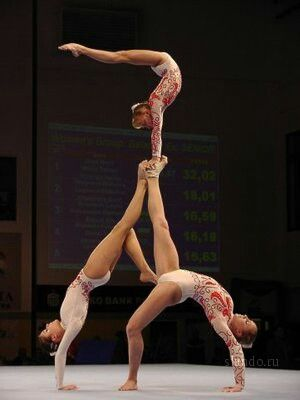 cute womens clothes Sports Acrobatics womens group