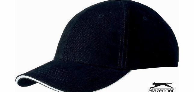 Slazenger  6 PANEL SANDWICH BASEBALL CAP - 4 COLOURS (BLACK) 6 Panel Sandwich Cap. Heavy twill 100% Cotton Fully Adjustable Slazenger Brass Effect Buckle - Fits up to 60cm Size - Genuine Licensed Product (Barcode EAN = 5055454833921). http://www.comparestoreprices.co.uk/baseball-caps/slazenger-6-panel-sandwich-baseball-cap--4-colours-black-.asp