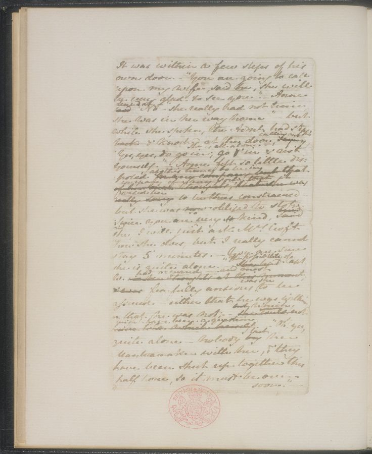 Best Letters And Manuscripts Images On   Jane Austen