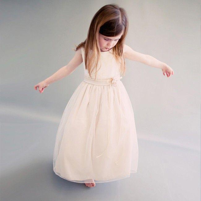 Champagne Splendor Elegance Tulle Girl Gown | Posh Kid Supply