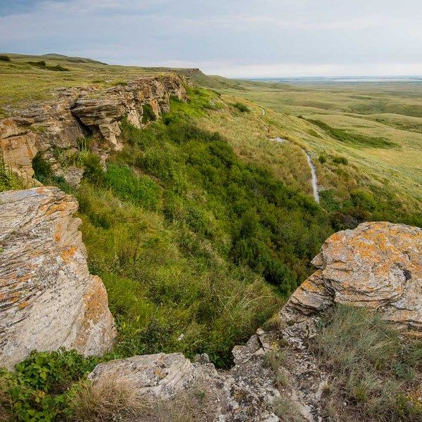 Check out this slideshow Head-Smashed-In Buffalo Jump in this list 29 Breathtaking Cliffs To See In Your Lifetime