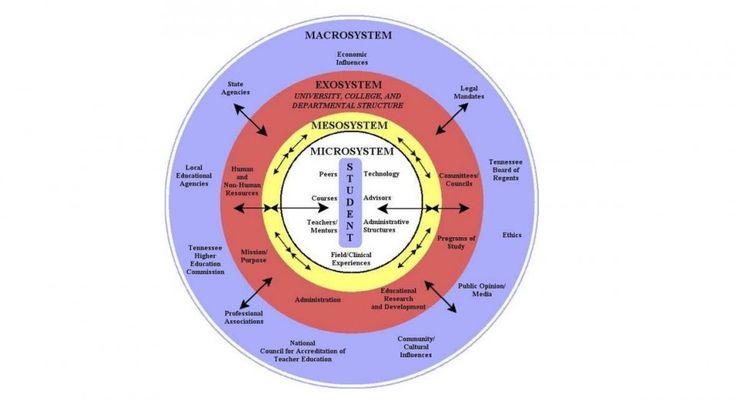 La Teoría Ecológica de los Sistemas de Urie Bronfenbrenner consiste en un enfoque ambiental sobre el desarrollo del individuo a través de los diferentes...