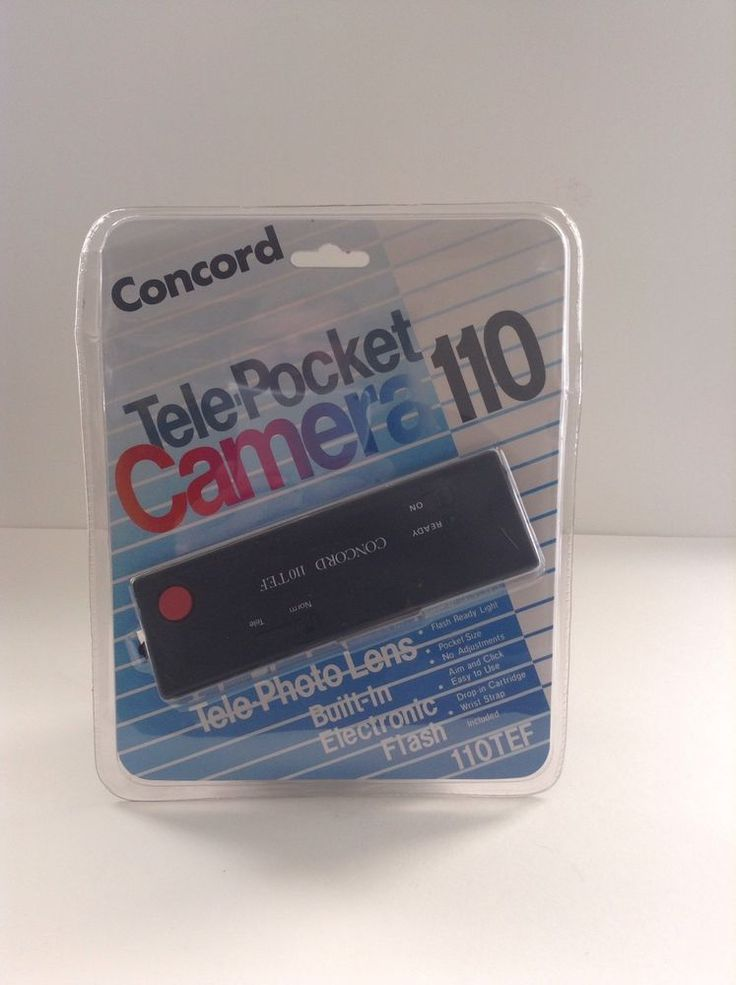 NIP Vintage Concord 110 Tele Pocket Camera With Built In Flash Pictures Photo #Concord