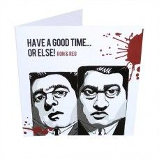 Blok Heds Ron Reg Krays Card