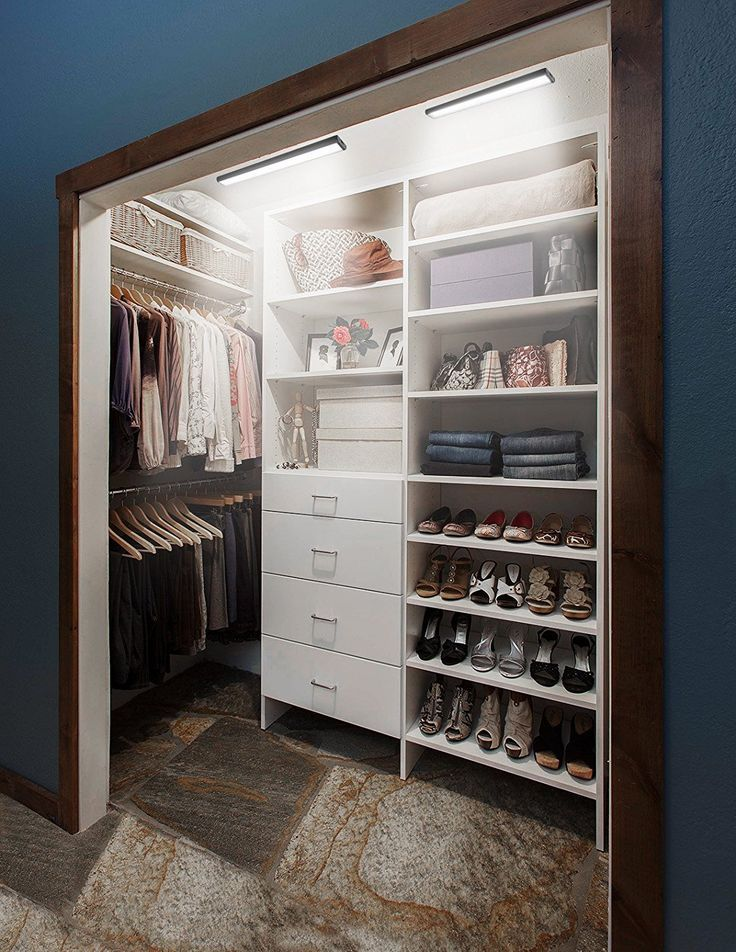 Closet Closetlights Lighting Indoorlights Walkincloset Bedroom Masterbedroom Bedroomcloset Closetideas Stor Closet Remodel Deep Closet Closet Makeover
