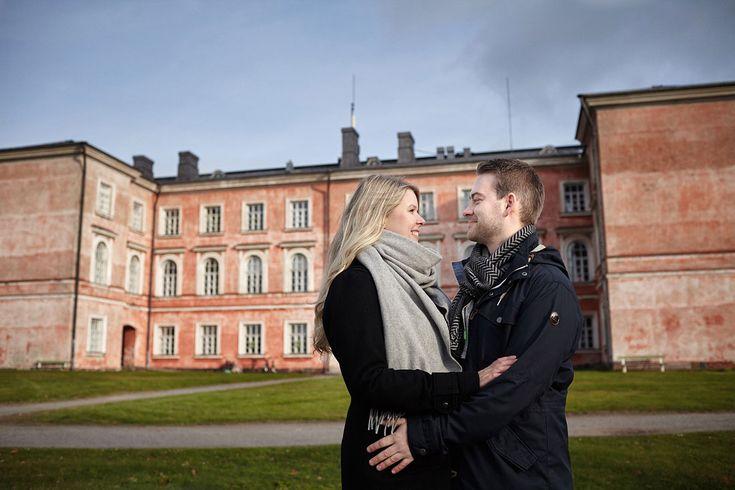 A & J Save the date kuvaus Suomenlinnassa |
