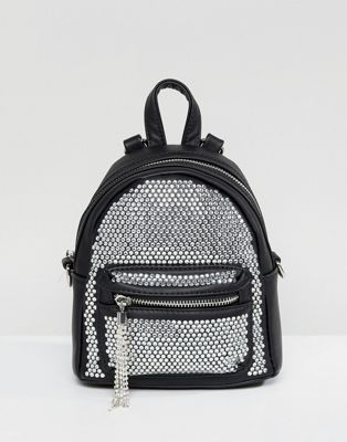 b82a1d5eff8 ALDO Backpack with Crystal Studding Detail and Tassels
