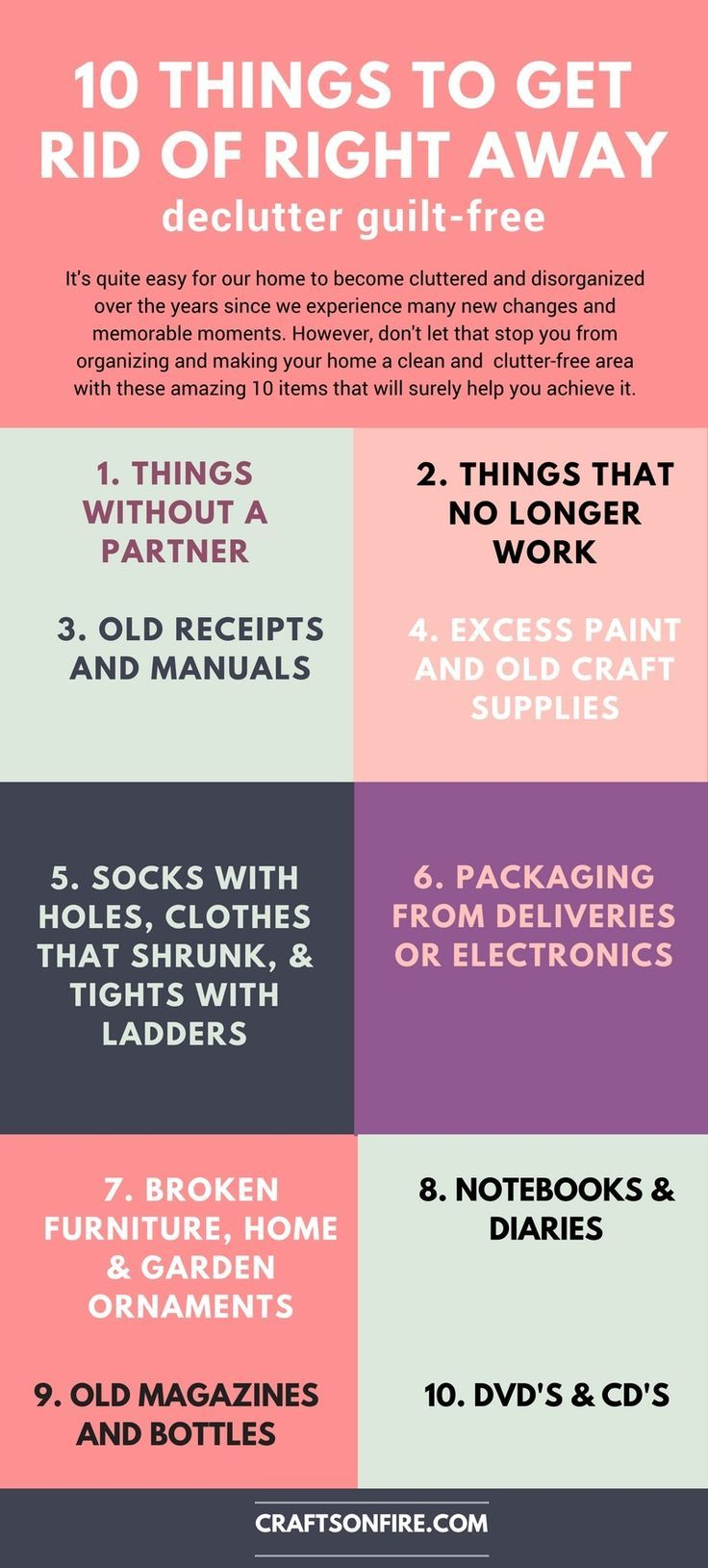 262 best declutter images on pinterest minimalism for Best way to get rid of clutter