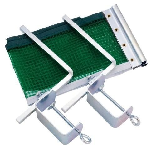 "Table Tennis Net and Post Set, 2"" Adjustable Metal Posts for Standard Sz Tables #ChampionSports"