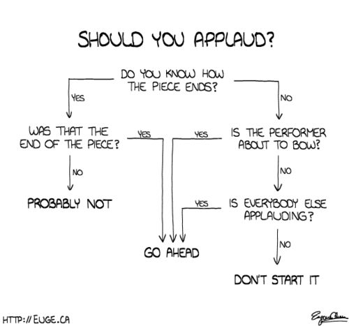 Classical concert etiquette... This is absolutely fantastic @panna37!