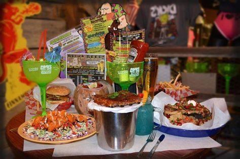 Great food & Company at Dick's Last Resort at Barefoot Landing!