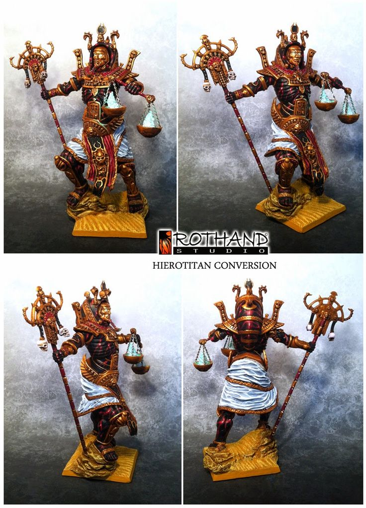 Rothand Studio: Warhammer Tomb Kings Hierotitan conversion