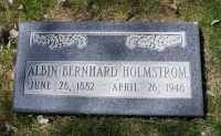 Headstone of Albin Bernhard Holmstrom in Ely City Cemetery, Ely Nevada.  Photo taken April 18 2016