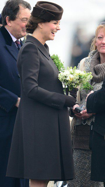 Duchess Catherine on March 17th this year, shortly before she gave birth to her second child.