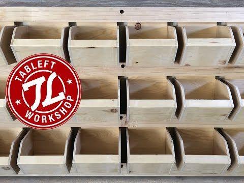 Shop Garage Storage Small Parts Bin Shelf Diy Youtube