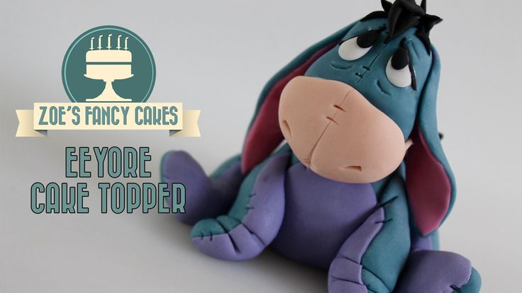 Eeyore cake topper tutorial / Eeyore model. In this modelling tutorial I show you how to make an Eeyore model from Winnie the Pooh. I use modelling paste / g...