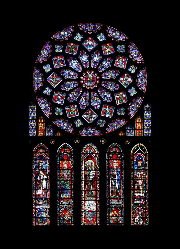 North Transept Rose Window, 60. Chartres Cathedral ...