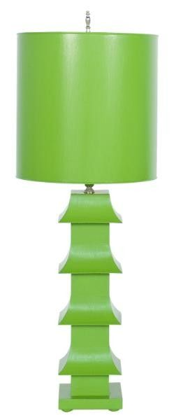 THE WELL APPOINTED HOUSE - Luxuries for the Home - THE WELL APPOINTED HOME Worlds Away Green Pagoda Lamp with Shade