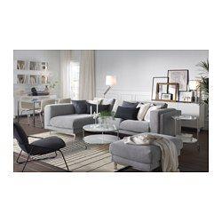 IKEA - NOCKEBY, Sofá 2 plazas con chaiselongue izda, izquierda/Tenö gris claro, madera, , Ofrece un soporte y comodidad excelentes, gracias a los gruesos cojines con núcleo de muelles embolsados y una capa superior de espuma y fibras de poliéster.El núcleo de muelles embolsados es duradero y mantiene durante mucho tiempo la forma y confort.Gracias al diseño amplio, hay espacio para toda la familia.Tejido estructurado, grueso y resistente de hilo teñido en diferentes tonos.La funda es fác...