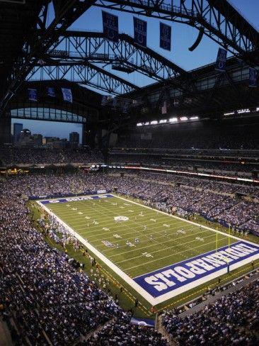 Indianapolis Colts--Lucas Oil Stadium: Indianapolis, INDIANA - Lucas Oil Stadium Photographic Print by Tom Strickland at AllPosters.com