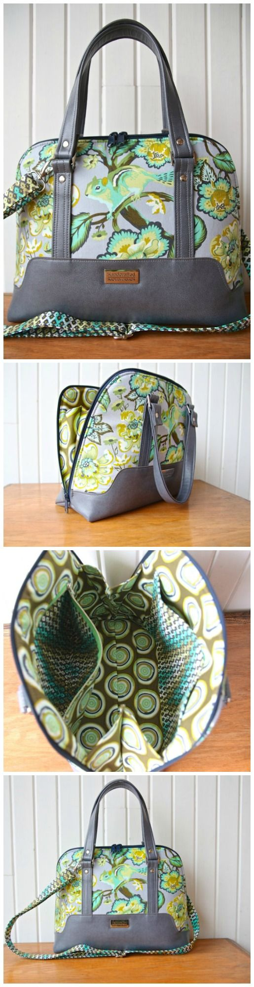 Perfect purse or bag sewing pattern. Lots of style, lots of pockets and features and a really well written sewing pattern.