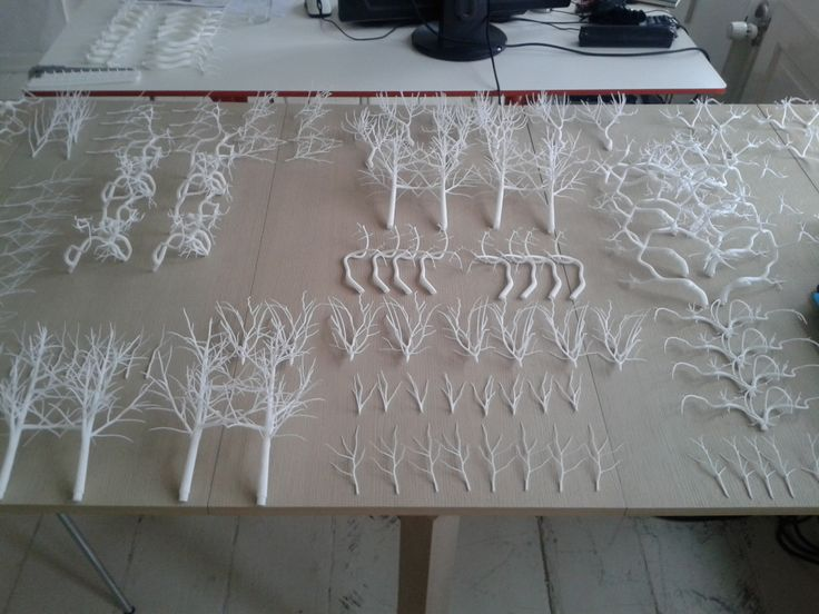 Forms in Nature Light Sculpture - Pieces 3D printed ready to assemble