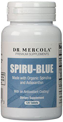 Dr. Mercola, Spiru-Blue avec un revêtement anti-oxydant, 120 comprimés: Les suppléments de prime Fabriqué avec spiruline bio et naturel…