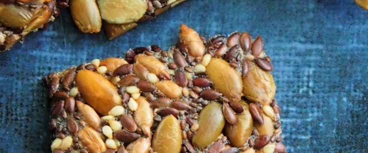 Seedy crackers – recipe courtesy of Caroline Trickey, APD