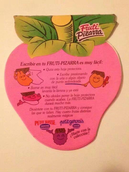 Fruti-pizarra de Danone