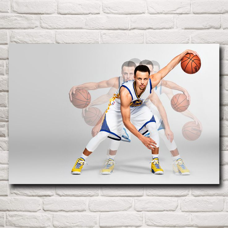 Stephen Curry Basketball Star Art Silk Fabric Poster Print Wall Home Decor Pictures 12x18 16X24 20x30 24x36 Inches Free Shipping