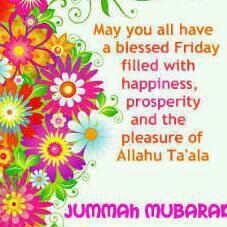 Jummah mubarak everyone!!!
