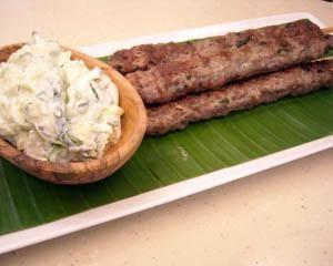 Lamb kofta skewers with tzatziki | Recipe