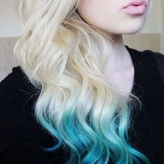 Light Blue And Blonde Dip Dye Pinterest Blondes