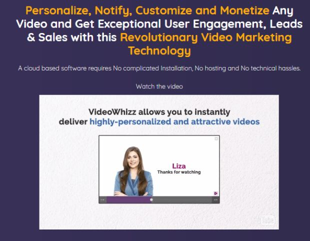 VideoWhizz Pro Personalized Video Marketing By Amit Pareek is Best Revolutionary Video Marketing Technology With All The Stunning Elements Like Video Personalization, Customization, Notification, And Monetization Technology That Drives Maximum Engagement, Conversions, Opt-Ins, And Sales. Videowhizz Pro By Amit Pareek is A cloud based software requires No complicated Installation, No hosting and No technical hassles.   #VideoWhizz #VideoWhizzPro #VideoMarketing #PersonalizedVideo #Leads…