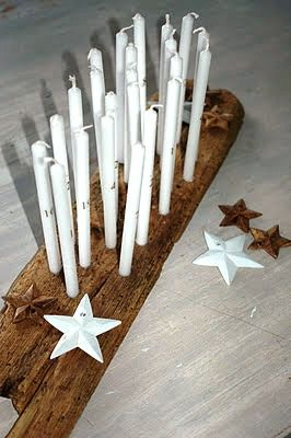 Candles with numbers
