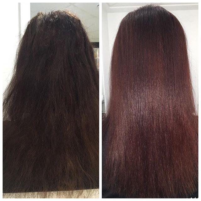 Полировка волос+ мгновенное восстановление волос для нашей гостьи Елены👸🏼! Девочки 👯лечите и восстанавливайте 💎свои волосы,а 💇🏻срезать мы всегда успеем ☝️ #parisbeautyclub#staytuned
