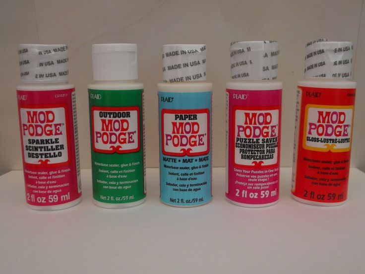 Mod Podge By Plaid 2oz Sparkle Outdoor Paper Matte Puzzle Saver Gloss Glue Sealer Adhesive by BlackCatScrapbooking on Etsy