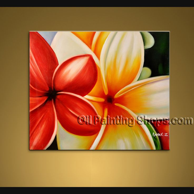 Stunning contemporary wall art floral painting egg flower on canvas