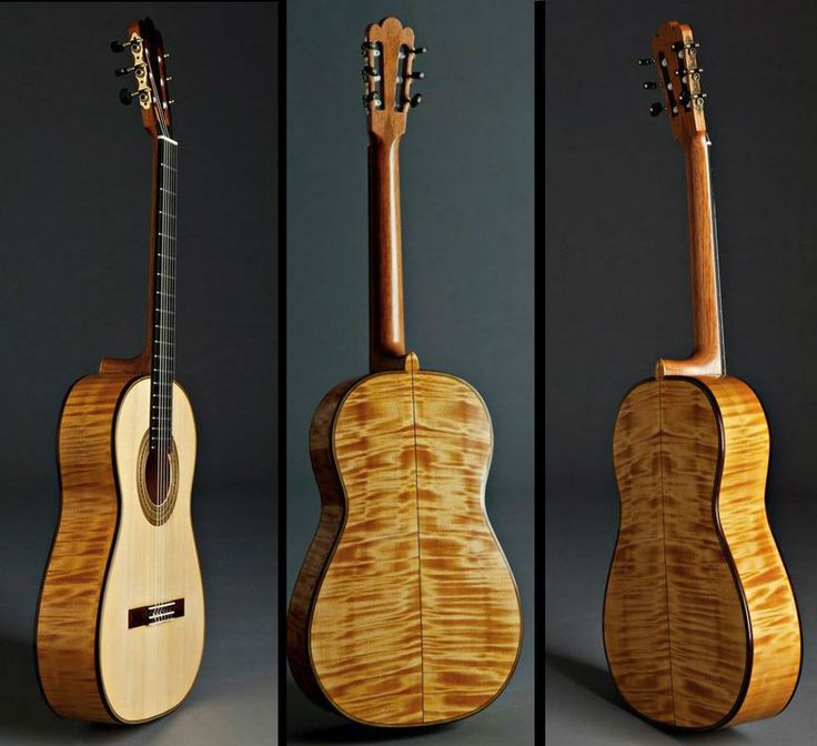 Classical Guitars For Sale Gary Southwell, England Torres Reproduction Maple/spr. Rodgers Tuning Machines Expected October, 2017 Price to be Determined Inquire Here: 216.752.7502 Spruce soundboard, four piece flamed maple back and sides, mahogany neck, ebony fingerboard. An intricate rosette and purfling design and a rosewood bridge with mother of pearl inlay go to make this a stunning looking guitar. Custom Rodgers tuning machine heads, 650mm string length. #ClassicalGuitars…