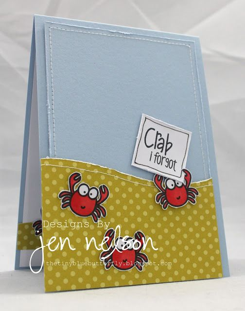 Oh these little crabs are so cute!  What a fun DIY belated birthday card!