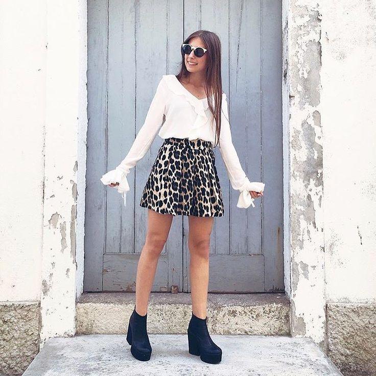 @amariaguedes ideal luciendo shorts de nueva tempo de #zara