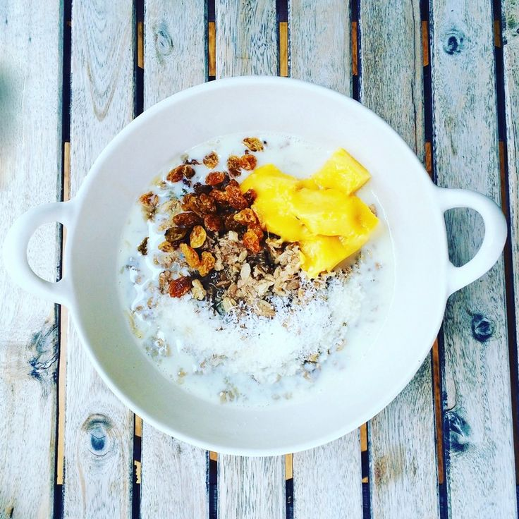 Homemade hot cereal with mango & coconut. This recipe for a warming, homemade hot cereal combines a few different grains and seeds that are full of Omega 3, Omega 6, protein, calcium, vitamin E, vitamin B, magnesium, fibre and lots of other good things. It is also delicious - flavoured with mango, tons of coconut and sweet spicy cardamom AND it happens to be vegan. - See more at: http://www.apurefoodkitchen.com/mango-coconut-hot-cereal/