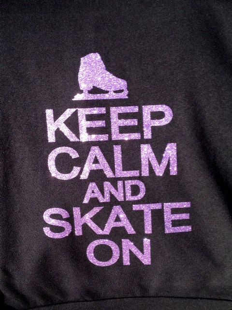 Keep Calm Skate On Ice Skating figure skating by BlingNInk on Etsy, $23.00