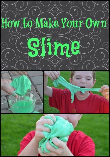 How to Make Slime for Kids #halloween #craft #project #kids