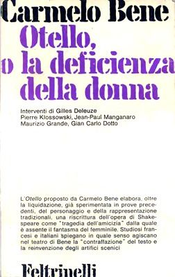 Carmelo Bene, Otello (testo)