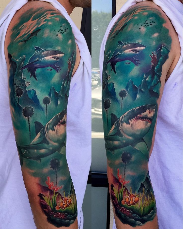 Worked more on this Underwater sleeve with some ww2 wreckage. Super pumped on…