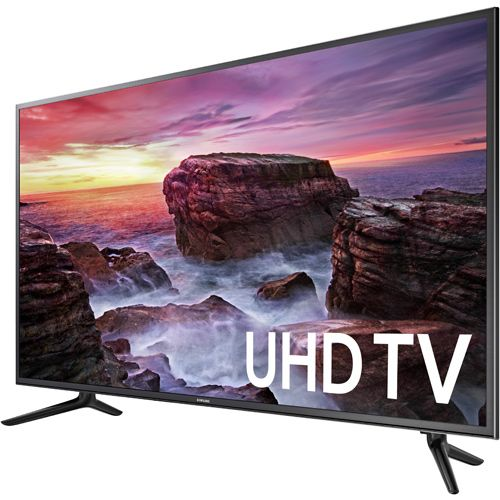 "Samsung UN58MU6100 58"" Class Smart MU6100 Series LED 4K UHD TV With Wi-Fi  Smart TV With Built-In Wi-Fi Full Web Browser Motion Rate 120 3840 x 2160 Lines Of Resolution 3 HDMI 