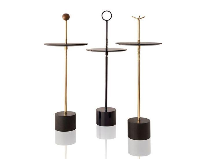 Table d'appoint réglable en hauteur ronde CIGG   Table basse réglable en hauteur - Sollos