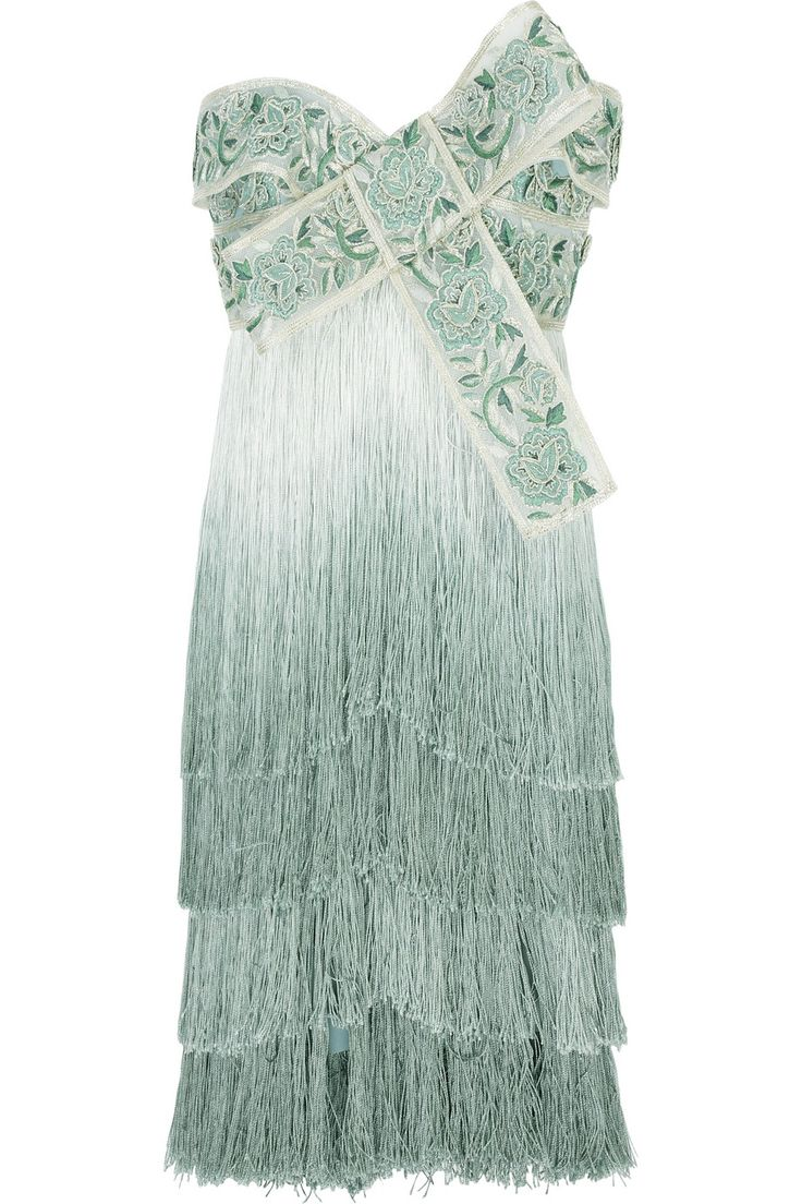 marchesa+dresses | Home > Clothing > Dresses > Mini > Ombré fringed dress